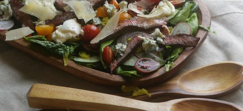 Steakhouse Salad with Honey Shallot Vinaigrette