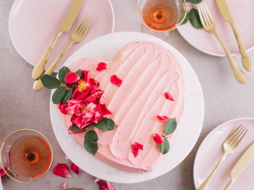 This Heart Cake Is Basically the Grown Up Version of a Conversation Heart
