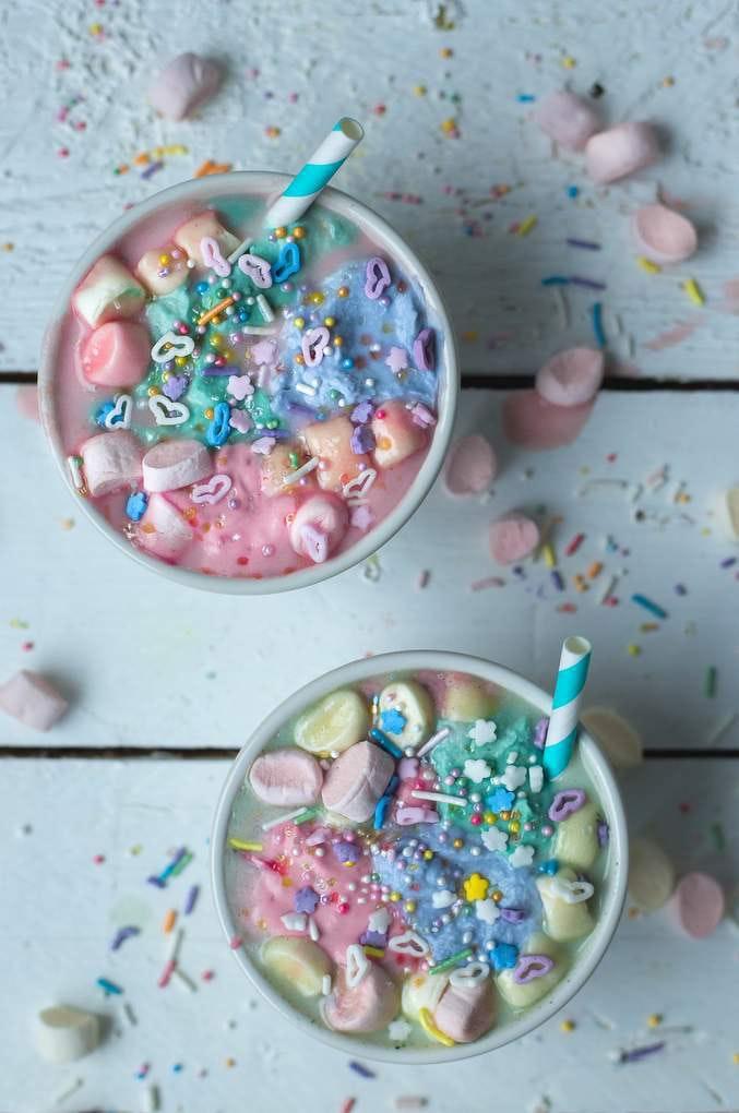 Vegan Unicorn Hot Chocolate