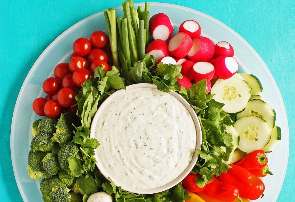 Veggie Tray With Ranch Dress 701X1024