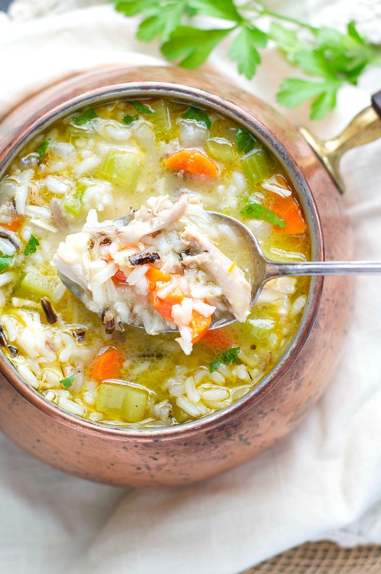 Wild Rice And Leftover Turkey Soup 8 1