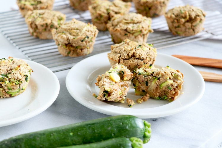 Healthy Vegan Zucchini Muffins