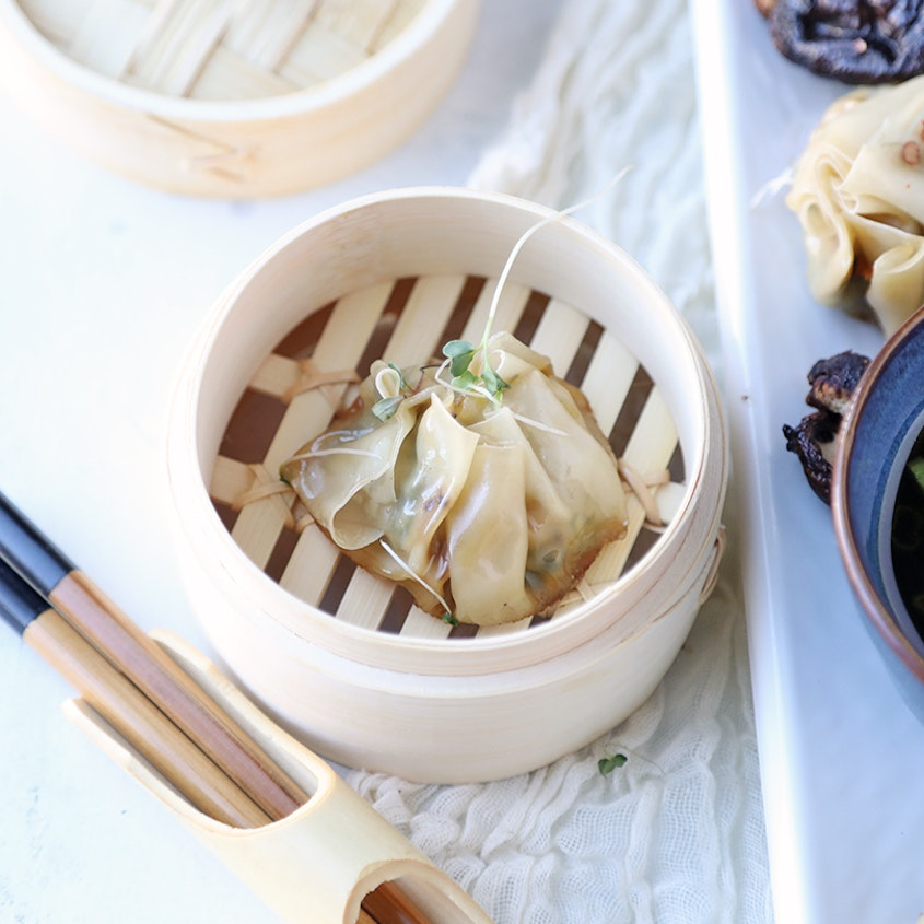 Potsticker Party Asian Dumplings Recipe With Bok Choy And
