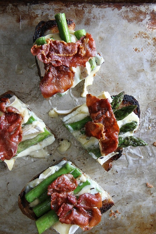 Asparagus Prosciutto Brie Grilled Cheese