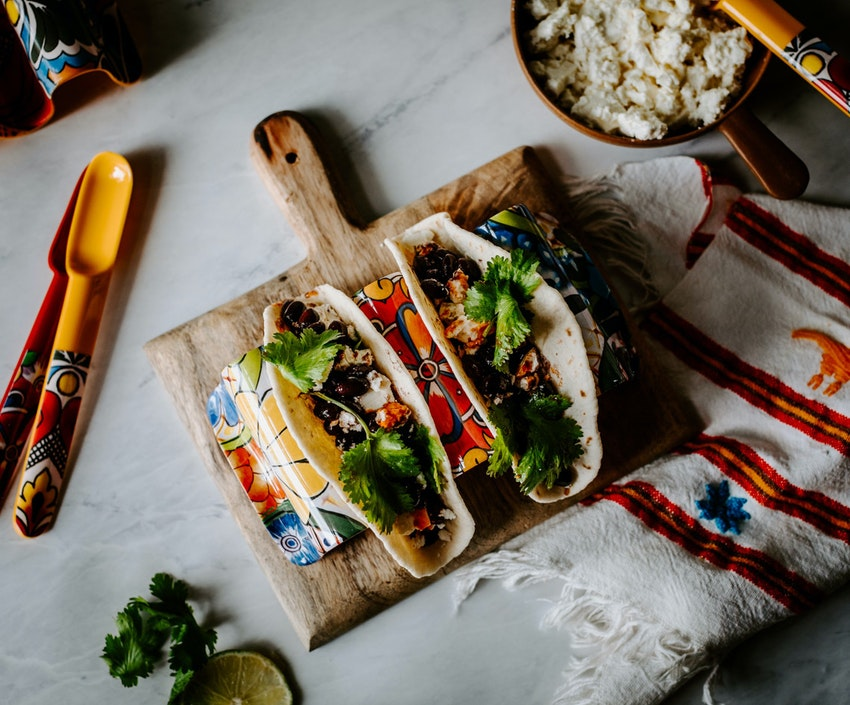 Easy Lunch in a Pinch: Black Bean & Feta Tacos