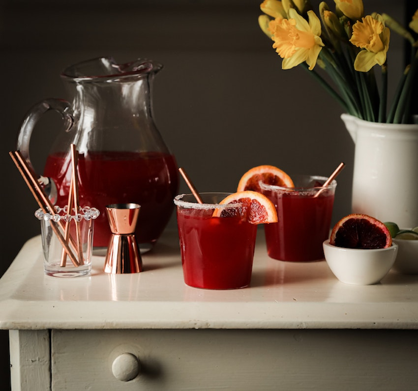 Blood Orange Pitcher Margaritas