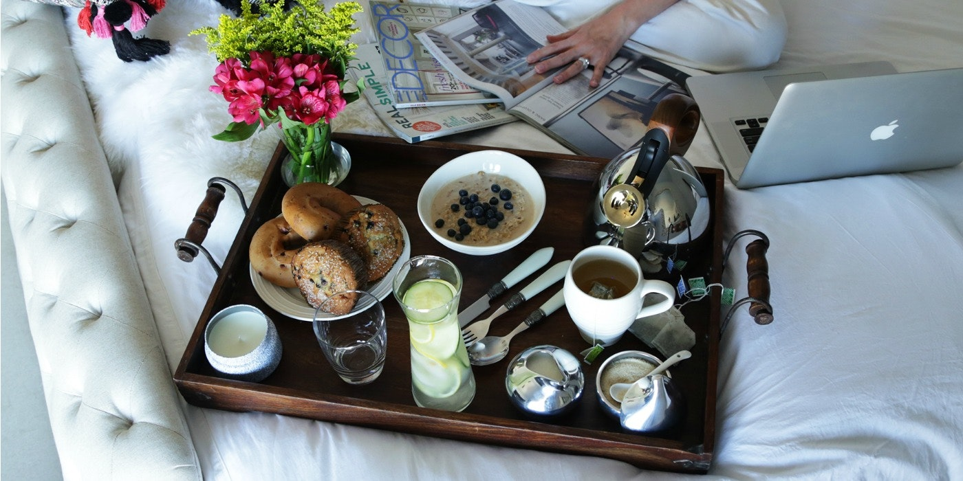 Breakfast in Bed for a Staycation