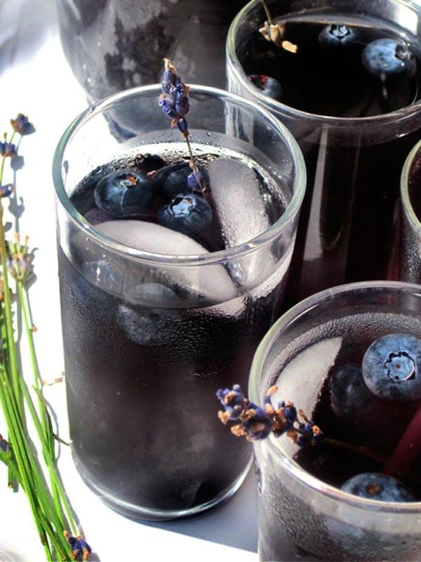 Blueberry Lavendar Vodka Spritzers