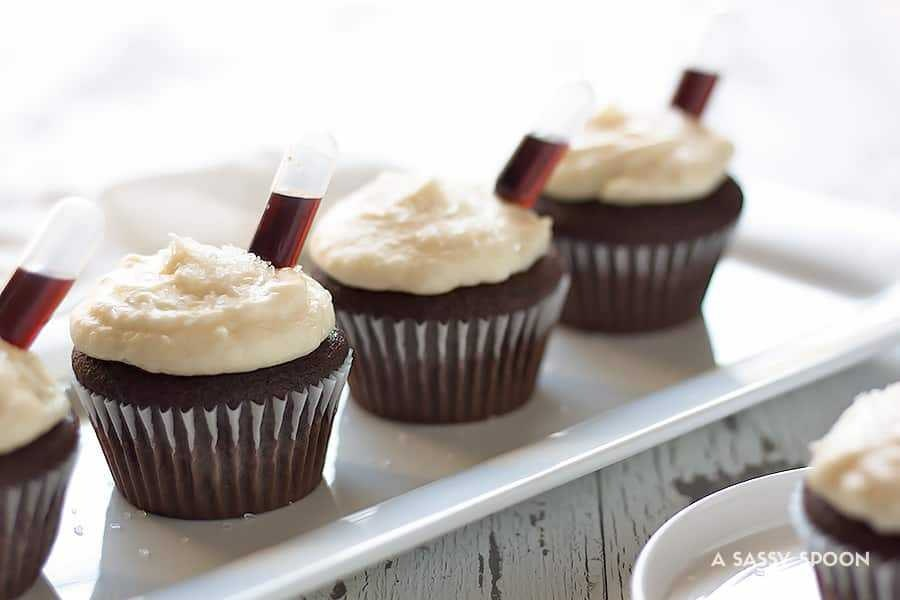 Boozy Chocolate Cupcakes Buttercream Frosting2 2 2