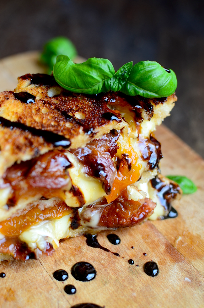 Brie Bacon Apricot Balsamic Grilled Cheese 4