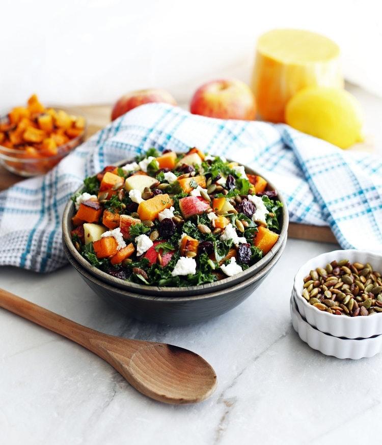 Butternut Squash Salad Wood Bowlv2