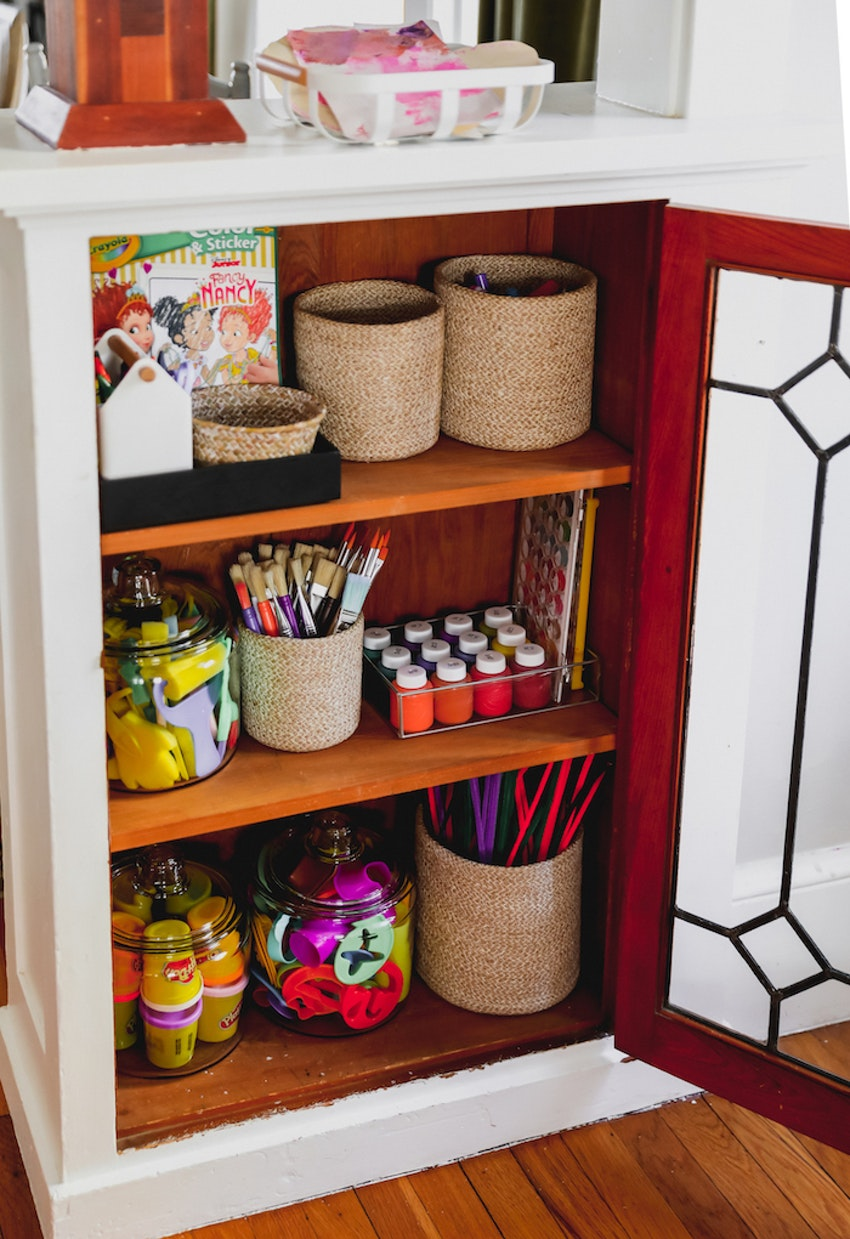 Small Space Organization: Kids' Craft Closet