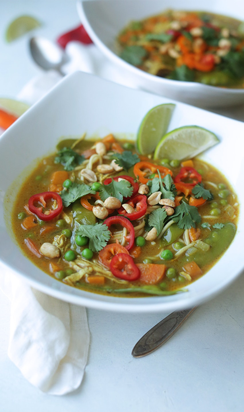 slow cooker curry chicken noodle soup recipe  billy
