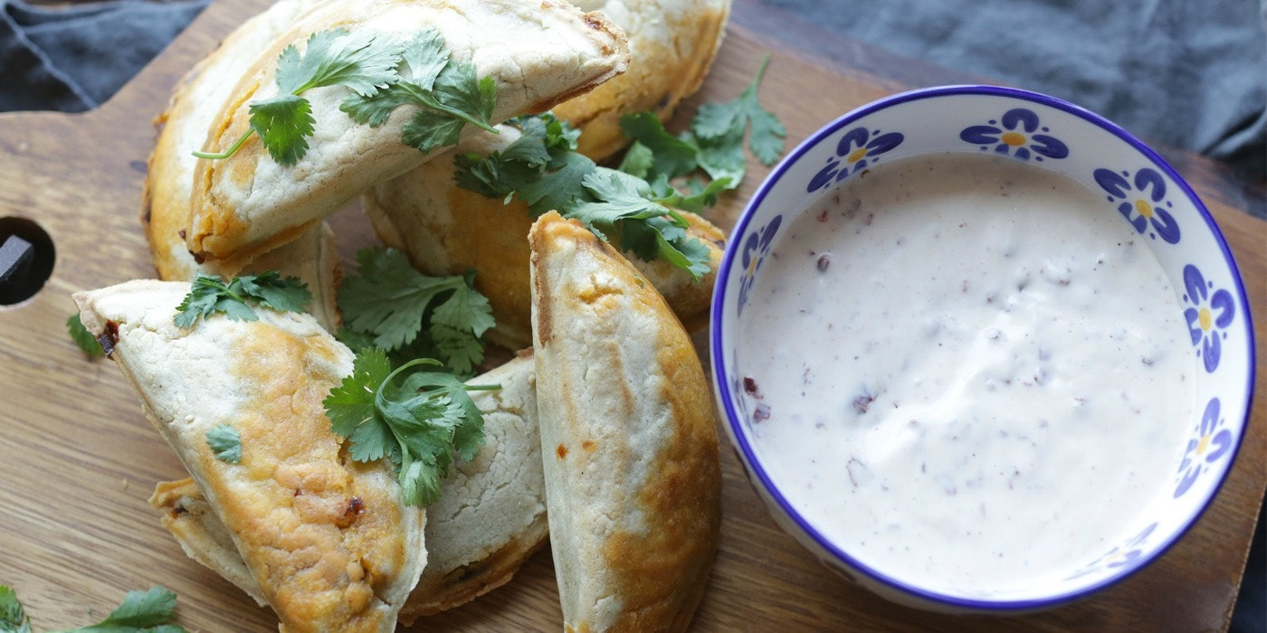 Mexican-Style Empanadas with Chipotle Ranch