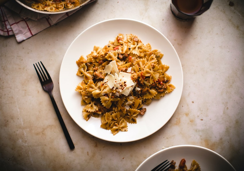 Easy One Pan Spicy Sausage Farfalle Recipe