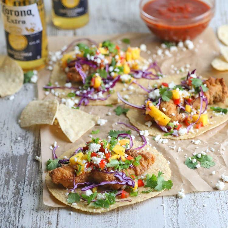 These Air-Fried Fish Tacos Are Beer Battered in Corona