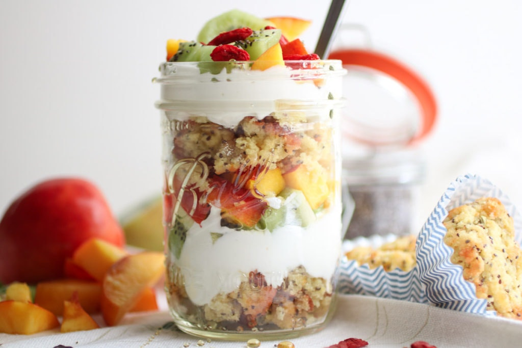 Gluten Free Lemon Chia Muffin Yogurt Parfait 5 1024X683