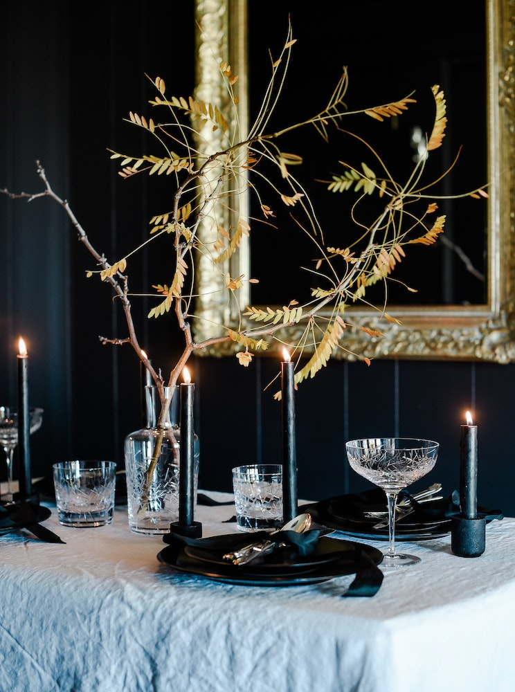 This Elegant Halloween Table Will Make You Want to Host a Spooky Dinner Party