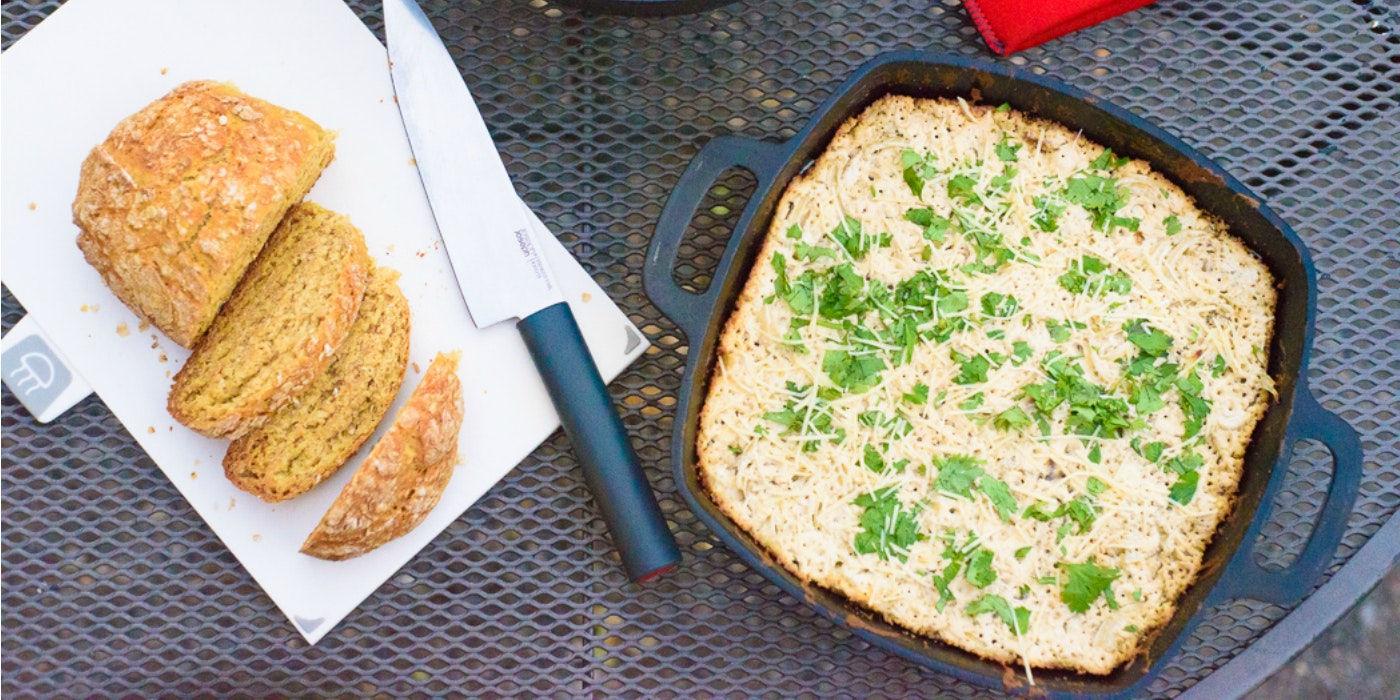 Camping Recipes: Cheesy Onion Dip & Oatmeal Bread