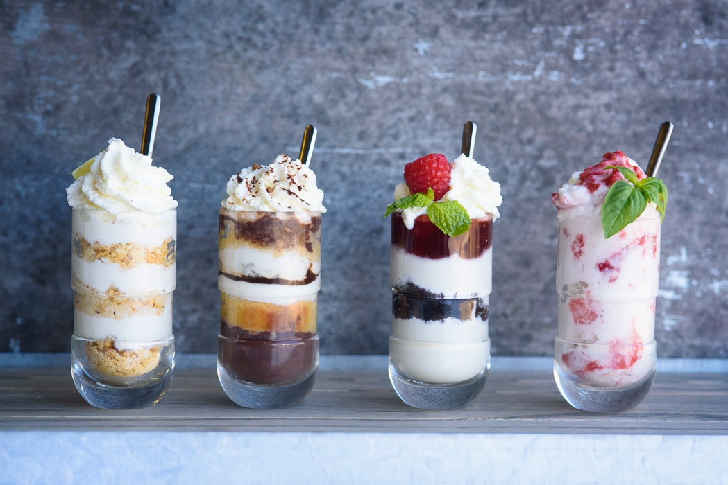 Shot Glass Desserts 4 Ways