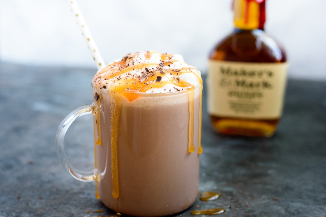 Spiked Salted Caramel Hot Chocolate