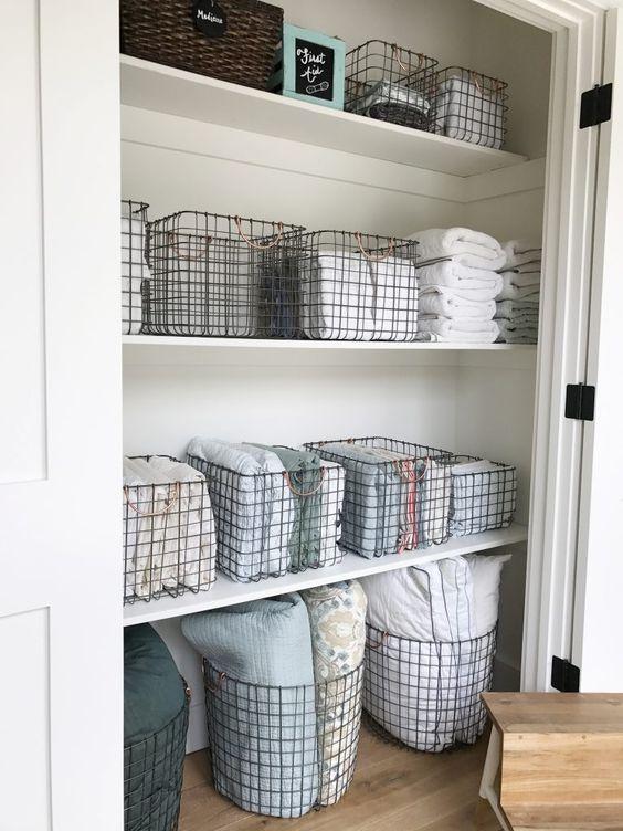 9 Ways To Organize Your Linen Closet That Ll Make You Feel Like Marie Kondo Deborah Shearer The Inspired Home