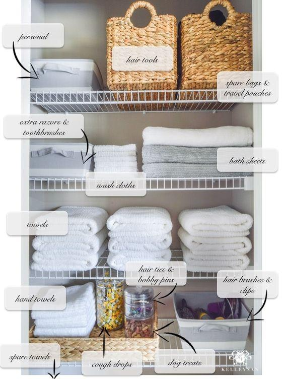 9 Ways To Organize Your Linen Closet That Ll Make You Feel Like Marie Kondo Deborah Shearer The Inspired Home