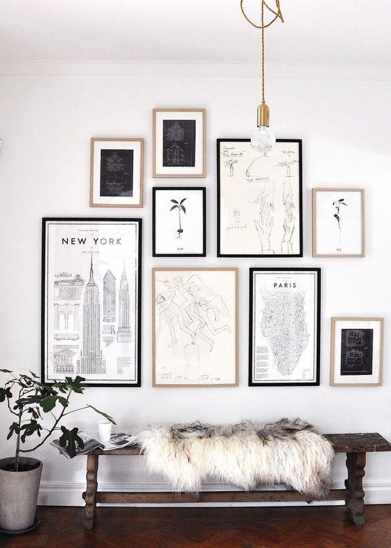 Inspired Home Entryway Gallery Wall