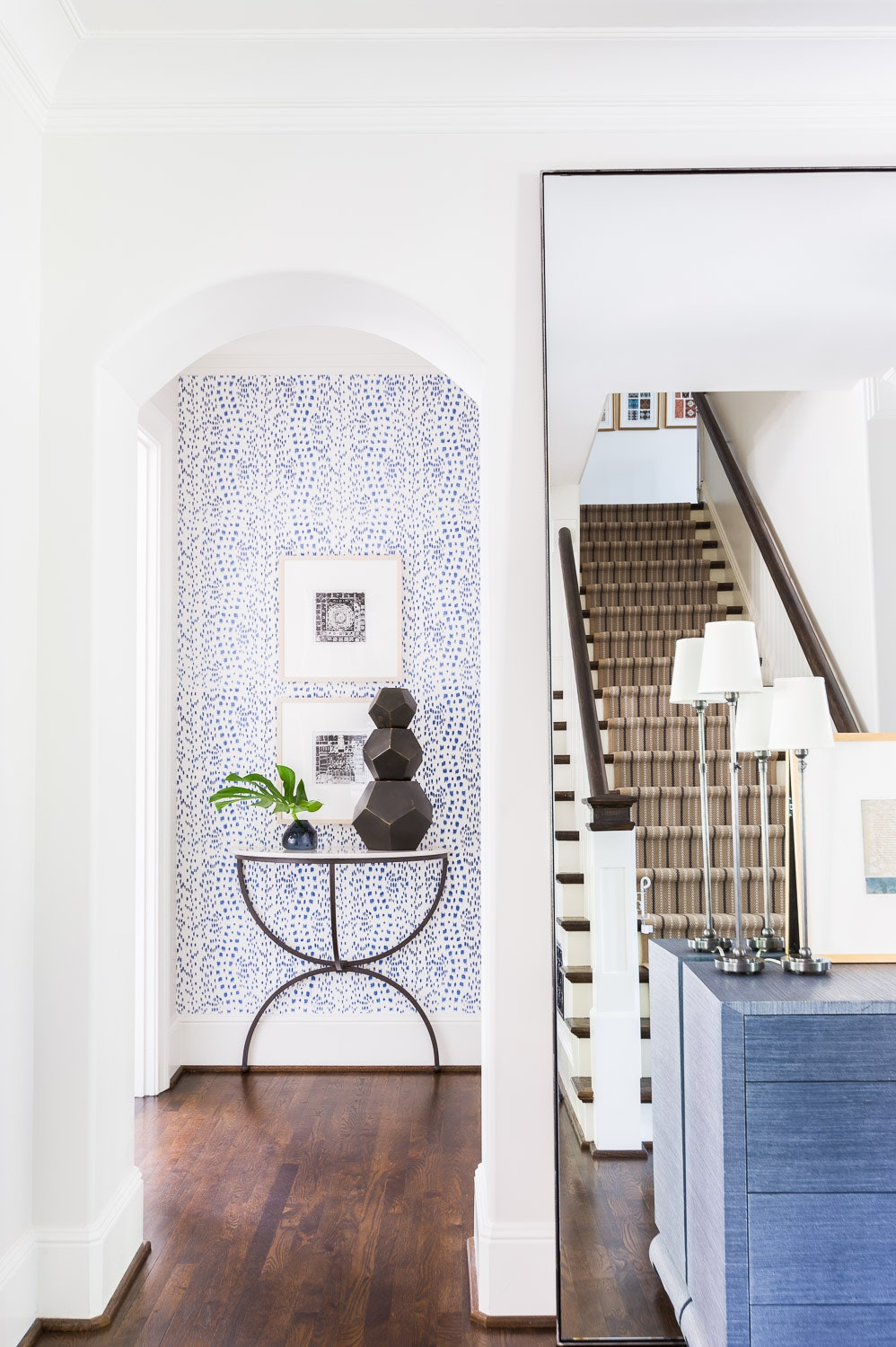 Inspired Home Entryway Inspiration Blue