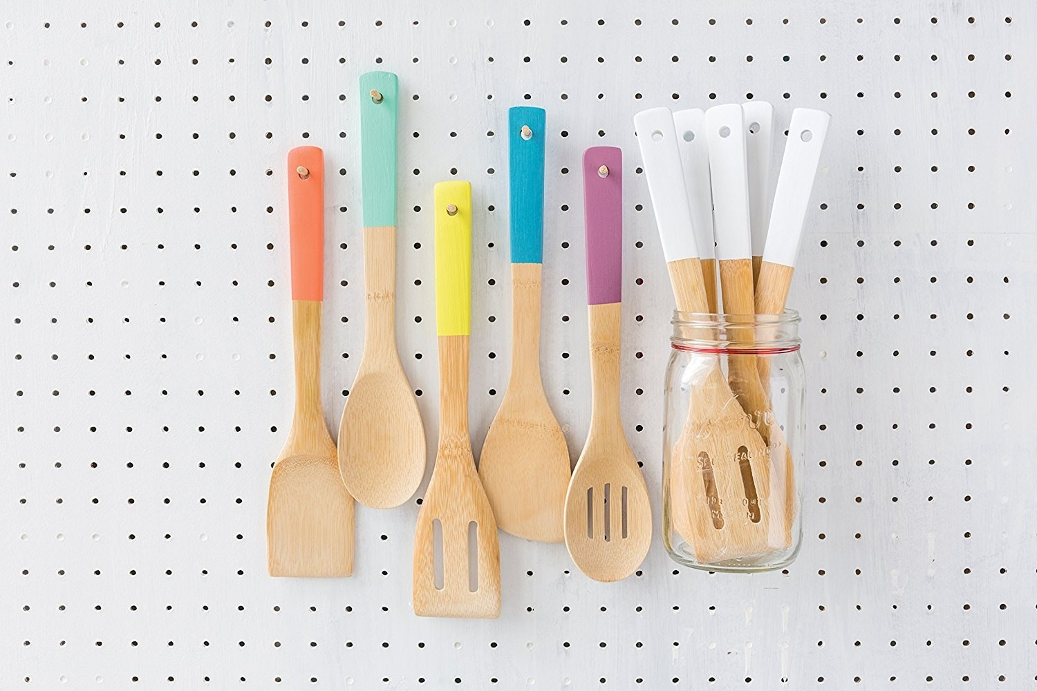 Kitchen Organization Inspired Home Dipped Kitchen Utensils