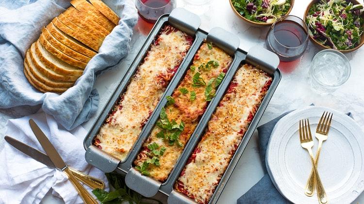 This Pan Makes Lasagna 3 Ways at the Same Time