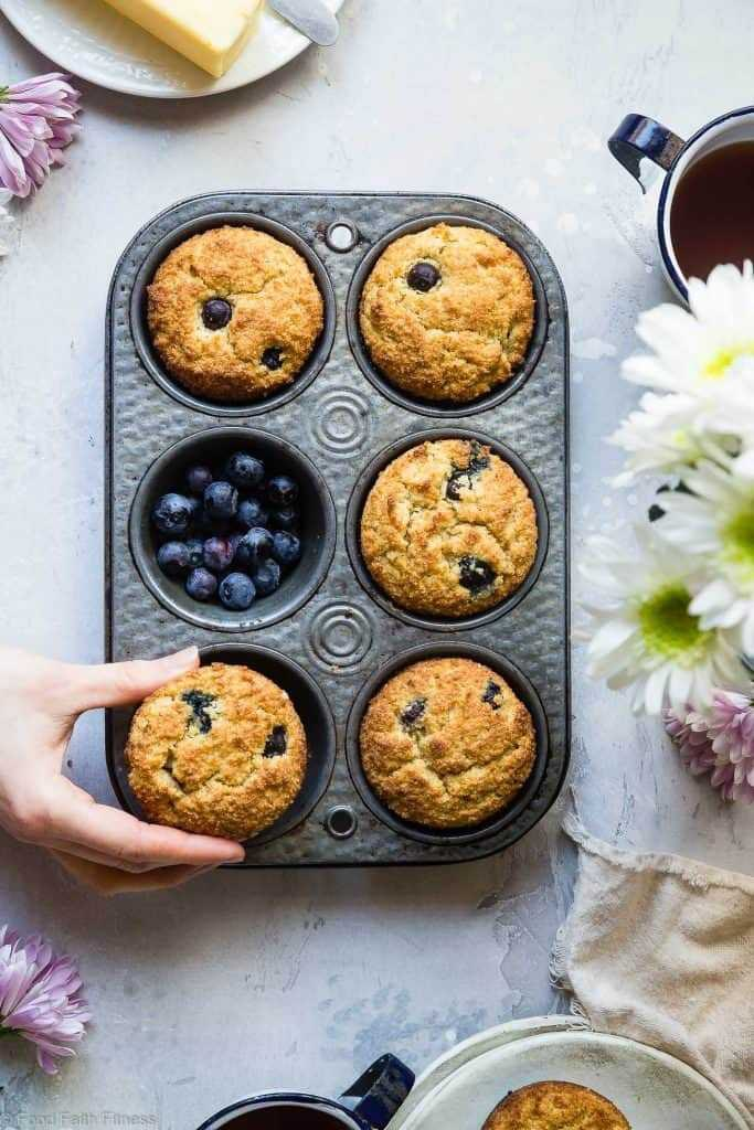 Low Carb Sugar Free Keto Blueberry Muffins Picture 683X1024