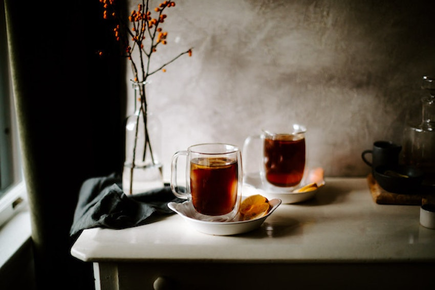 Maple Bourbon Hot Toddies