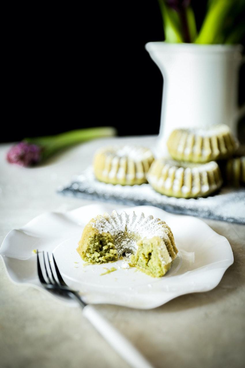 Vegan Matcha Mini Cakes