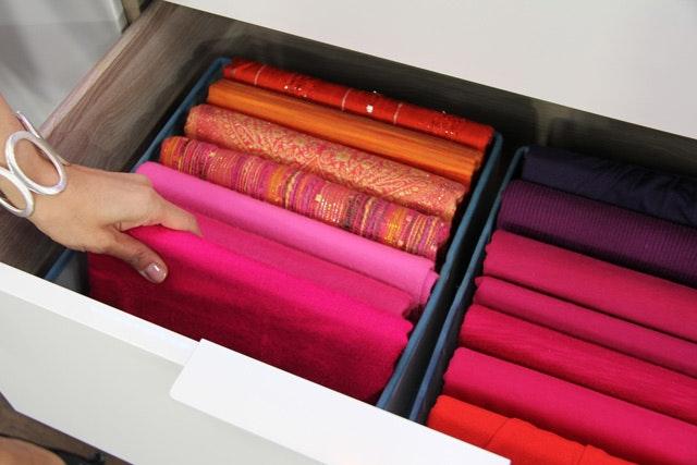 Organize Scarves Folded