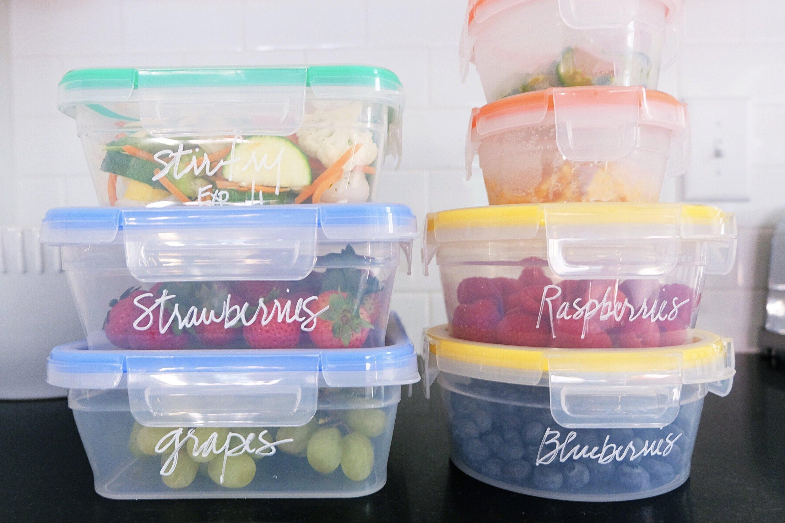 Organize Your Refrigerator Labeled Food Storage Inspired Home