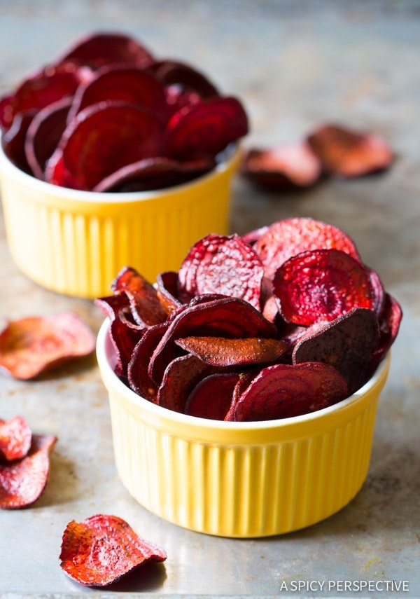 Oven Bake Beet Chips Recipe 9