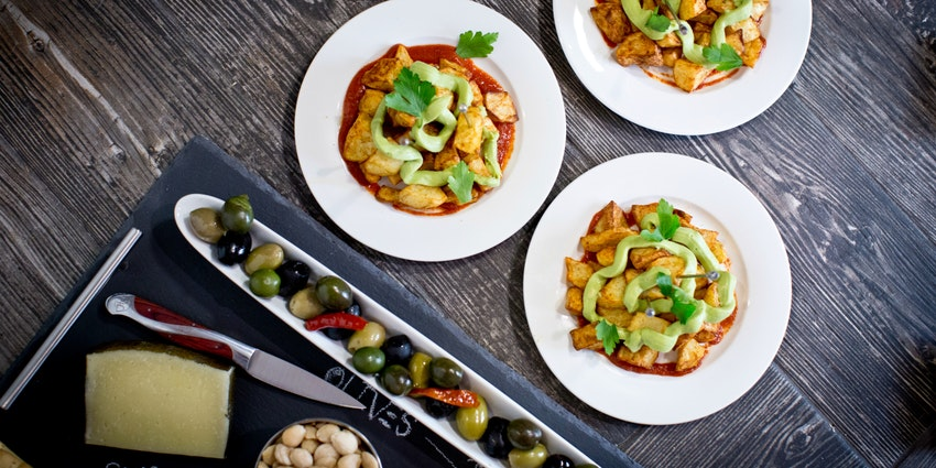Bravo for Bravas! Healthy Patatas Bravas with Vegan Avocado Aioli Recipe