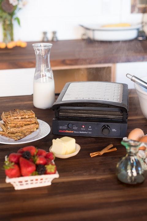 Pumpkin French Toast Waffles Process Shots 3