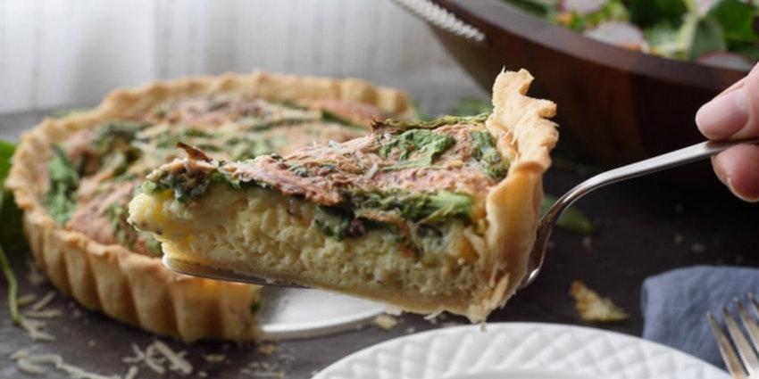 Spring Asparagus & Spinach Quiche