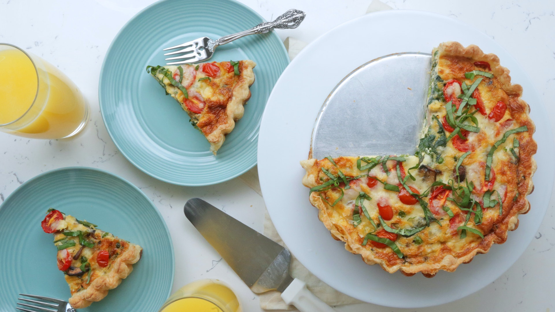 Spring Vegetable Quiche Recipe