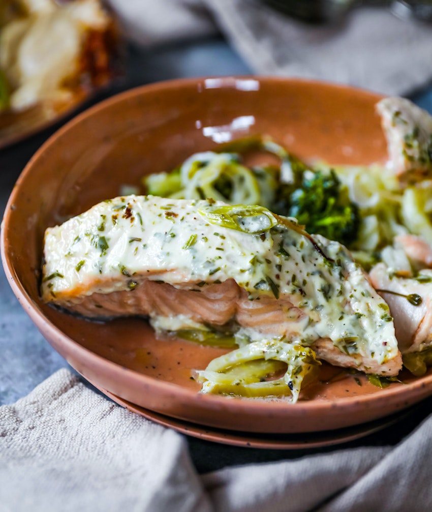Salmon en Papillote with Fennel and Tarragon