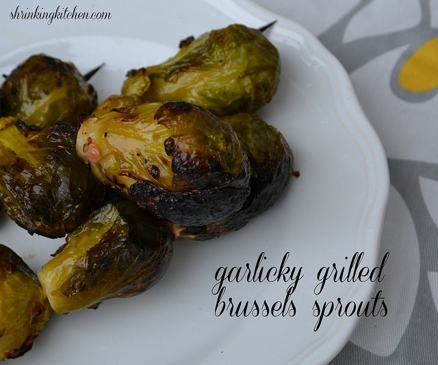 Sous Vide Garlicky Grilled Brussels Sprouts