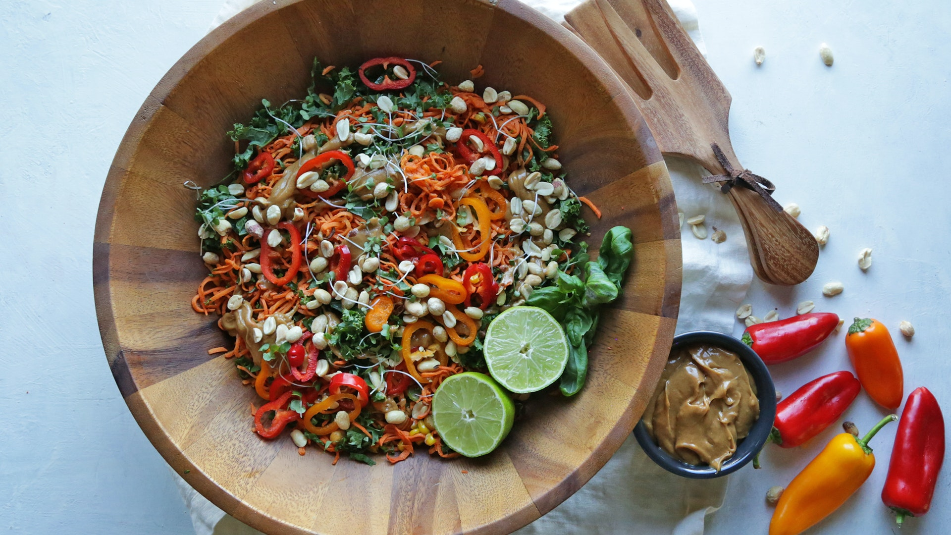 Thai Sweet Potato Salad with Peanut Butter Dressing