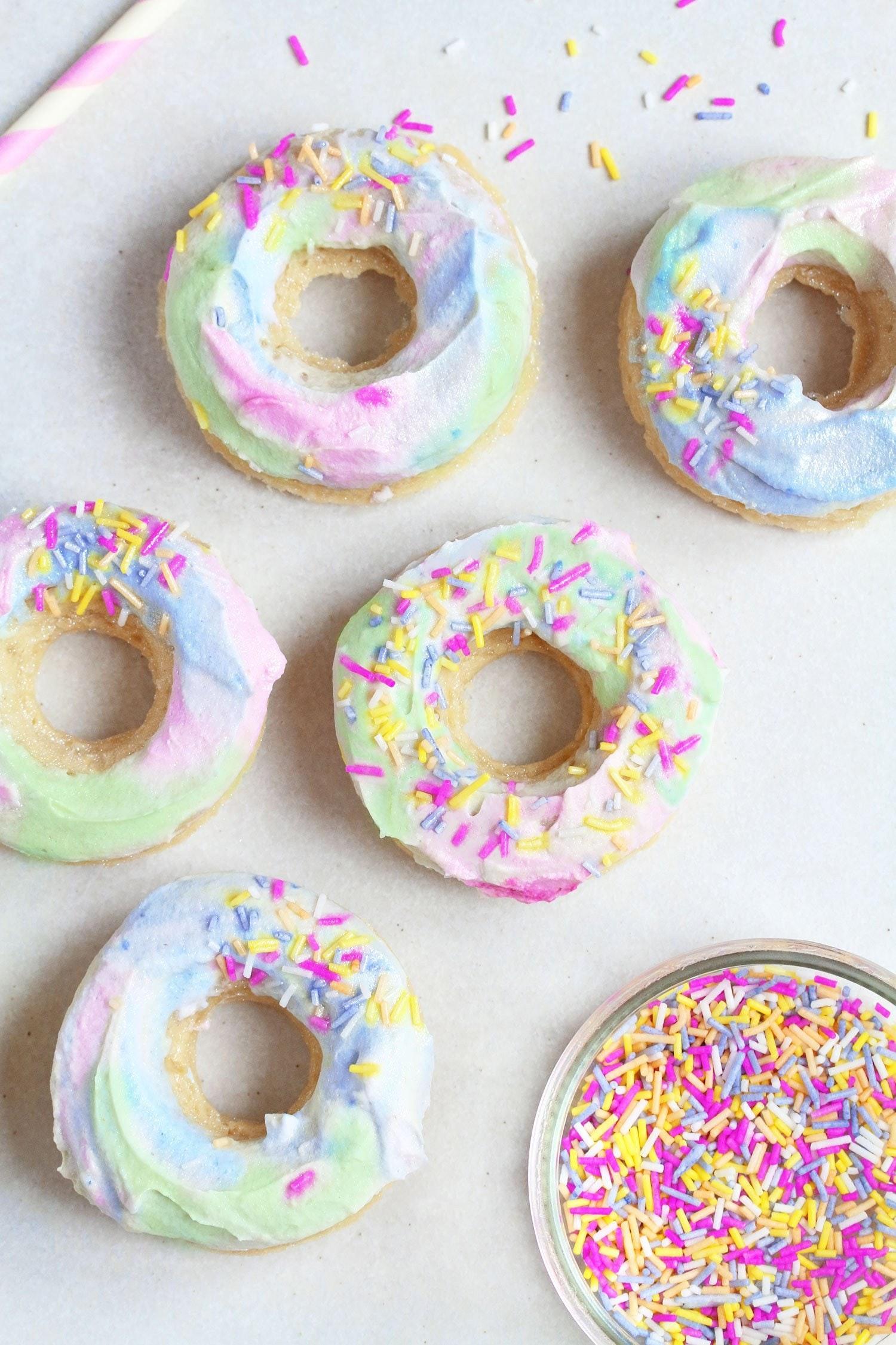 Vegan Unicorn Donuts
