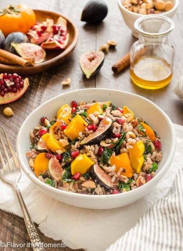 Wild Rice Kale Salad Spiced Maple Vinaigrette1 Flavorthemoments Com 600X822